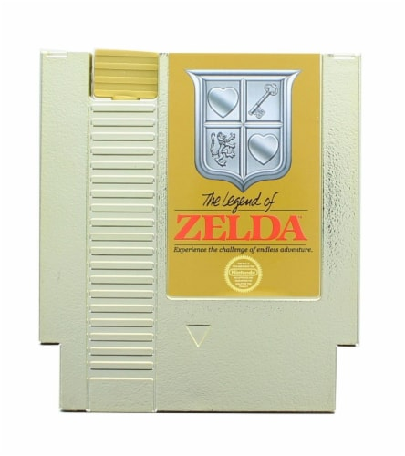 Legend of Zelda 5oz Gold Cartridge Canteen Perspective: left