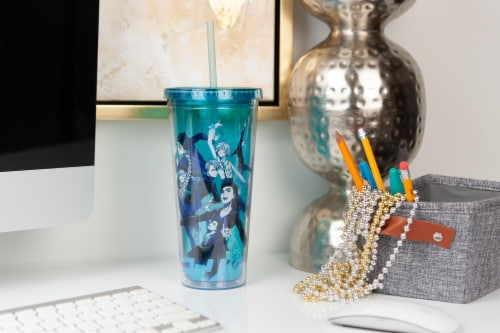 Yuri On Ice Characters Plastic Tumbler Cup With Lid & Straw | Holds 16 Ounces Perspective: left