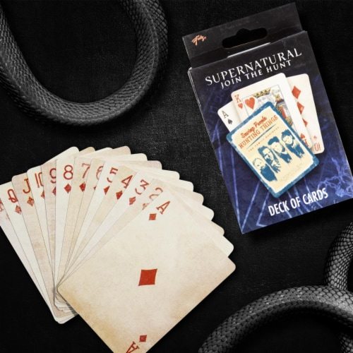 Supernatural Collectibles | Supernatural Playing Cards | TV Series Merchandise Perspective: left