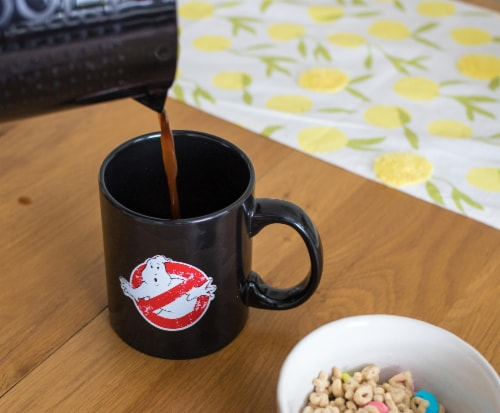 Ghostbusters Logo Ectoplasm Heat-Changing Ceramic Coffee Mug   Holds 20 Ounces Perspective: left