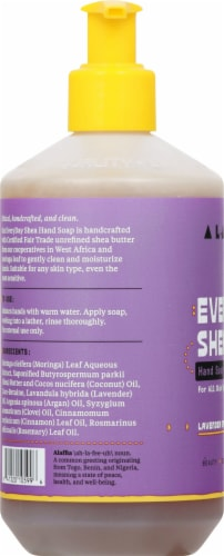 Alaffia Everyday Shea Lavender Spice Hand Soap Perspective: left