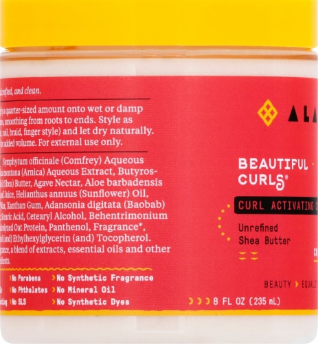 Alaffia Beautiful Curls Curl Activating Cream Perspective: left