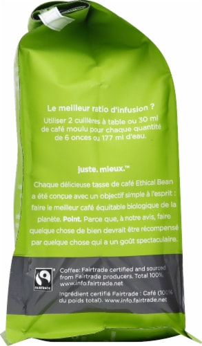 Ethical Bean Coffee Organic Classic Medium Roast Ground Arabica Coffee Perspective: left