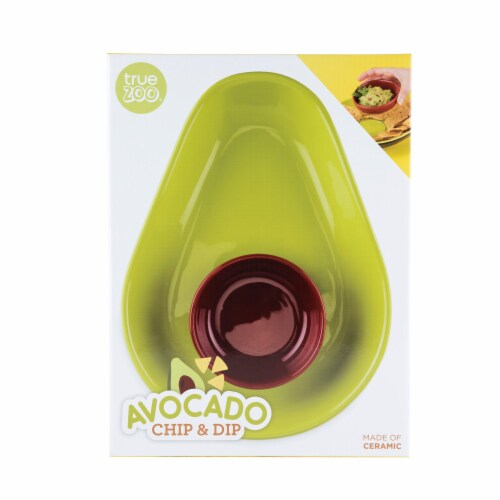Avocado Chip and Dip Tray by TrueZoo Perspective: left
