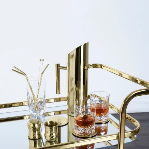 Viski 5891 Belmont Gold Bar Cart Perspective: left