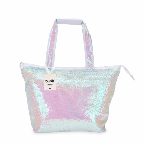 Mermaid Sequin Cooler Tote by Blush® Perspective: left