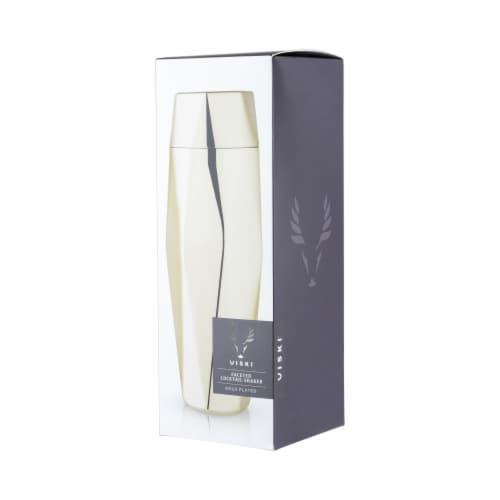Viski 6425 30 oz Belmont Apex Faceted Cocktail Shaker, Gold Perspective: left