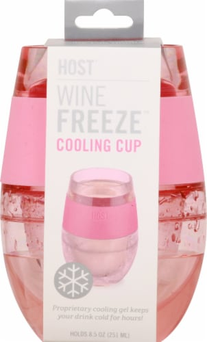 True Fabrications Wine Freeze Cooling Cup Translucent Pink Perspective: left