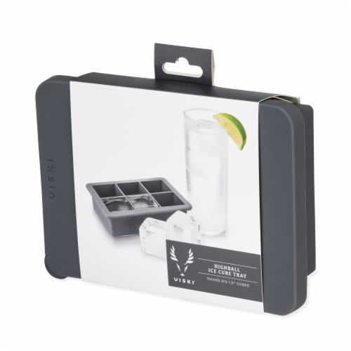 Viski 9576 Highball Ice Cube Tray with Lid Perspective: left