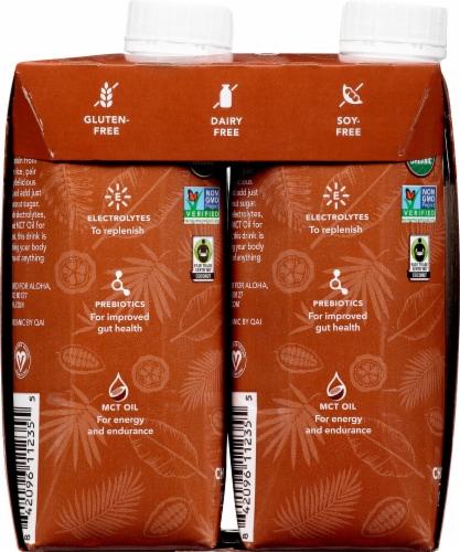 Aloha Organic Chocolate Sea Salt Plant-Based Protein Drinks Perspective: left