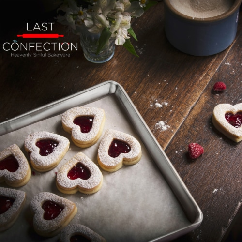 (Set of 6) Aluminum 9  x 13  Cookie Baking Sheets - Last Confection Perspective: left