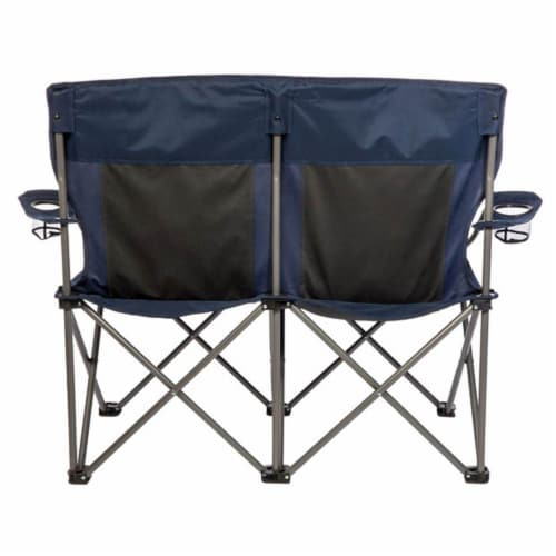 Kamp-Rite 2 Person Outdoor Tailgating Camping Double Folding Lawn Chair (2 Pack) Perspective: left