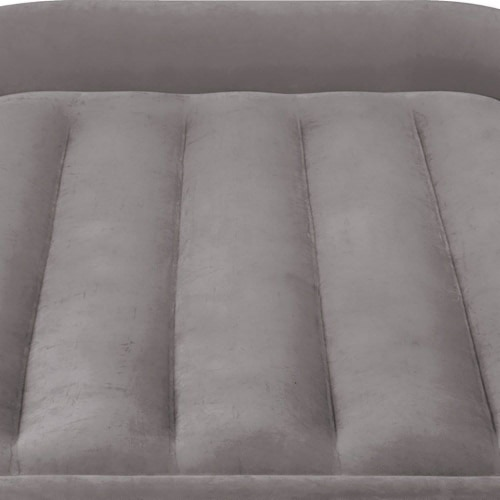 Intex Twin Sized Deluxe Pillow Rest Airbed with Fiber-Tech BIP, Gray (3 Pack) Perspective: left