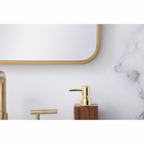 Soft corner metal rectangular mirror 22x30 inch in Brass Perspective: left