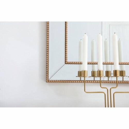 Iris beaded mirror 48 x 32 inch in antique gold Perspective: left