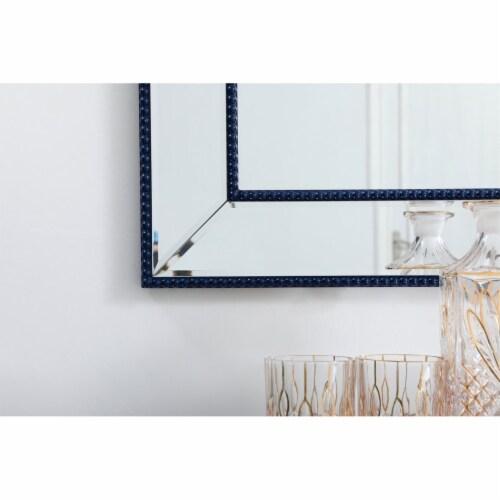 Iris beaded mirror 48 x 32 inch in blue Perspective: left