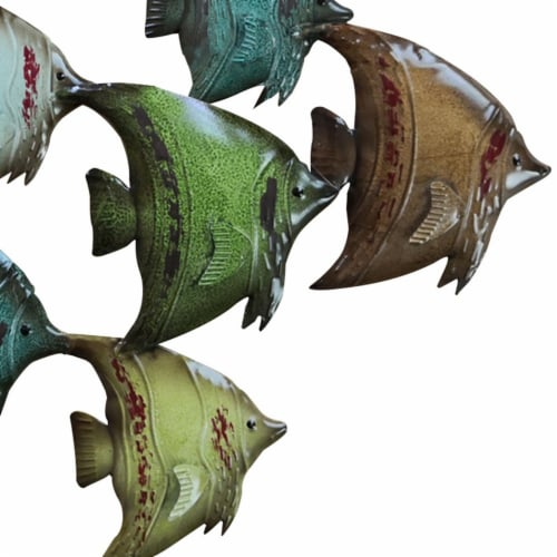 Three Dimensional Hanging Fish Wall Decor Perspective: left