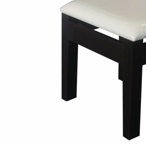 Benzara Comforting Dressing Stool - Black/White Perspective: left