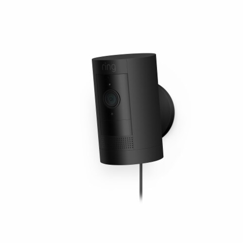 Ring™ Plug-In Stick Up Camera - Black Perspective: left