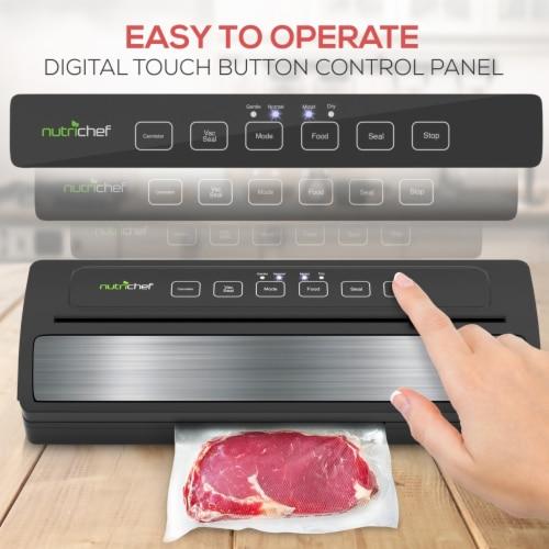 NutriChef PKVS25BK Kitchen Pro Food Electric Vacuum Bag Sealer Preserver System Perspective: left