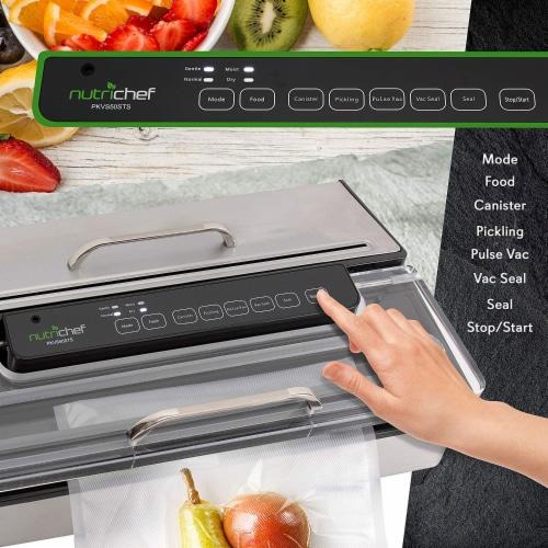 NutriChef PKVS50STS Kitchen Pro Food Electric Vacuum Sealer Preserver System Perspective: left