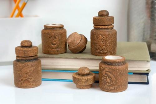 Harry Potter Hogwarts Houses 1.45-Oz Ceramic Storage Jars - Set of 4 Perspective: left