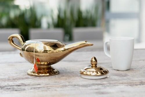 Disney Aladdin Genie Lamp 32oz Ceramic Teapot Perspective: left