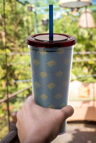 Marvel's Captain Marvel Actually I Can 16-Oz PVC Tumbler w/ Lid and Straw Perspective: left