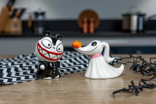 Nightmare Before Christmas Scary Teddy & Zero Ceramic Salt & Pepper Shakers Perspective: left