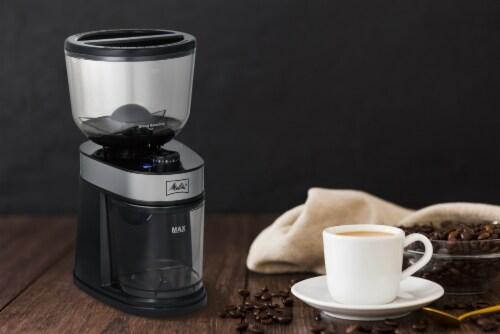 Melitta Coffee Bean Flat Burr Grinder Perspective: left