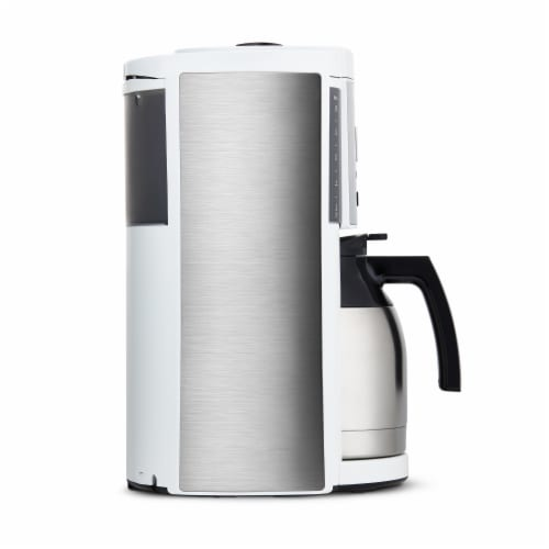 Melitta Drip Coffee Maker with Thermal Carafe - White Perspective: left