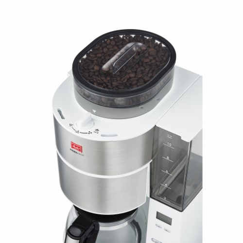 Melitta Drip Coffee Maker with Coffee Grinder Perspective: left