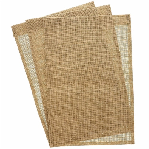 Juvale Blank Burlap Garden Flag (17.7 x 11.8 Inches, 6-Pack) Perspective: left
