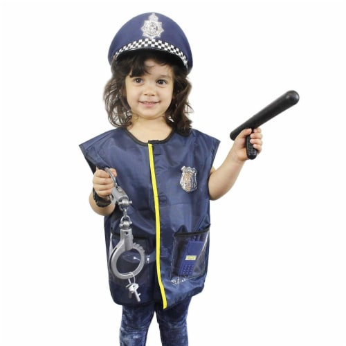 Halloween Costumes for Kids, Police Officer Uniform Costume (13 Pieces) Perspective: left