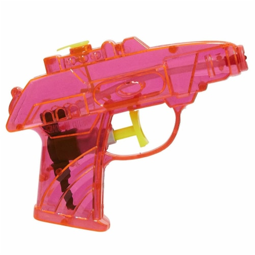 24 Pack Mini Plastic Water Squirt Guns Toys in Assorted Colors, for Kids Party, Ages 3 and Up Perspective: left