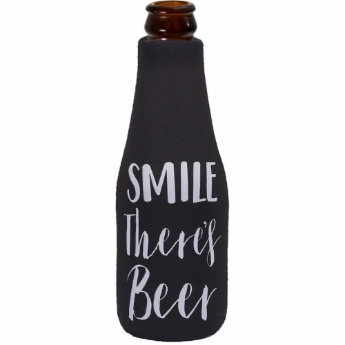 12-Pack Funny 12 Ounce Insulated Beer Bottle Coozie Cooler Zipper Sleeves, 2.4 x 7 Inches Perspective: left