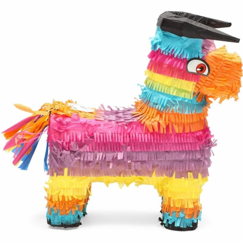 Bull Piñata for Kids Birthday Party or Cinco De Mayo (14.5 x 12 x 4.8 in) Perspective: left