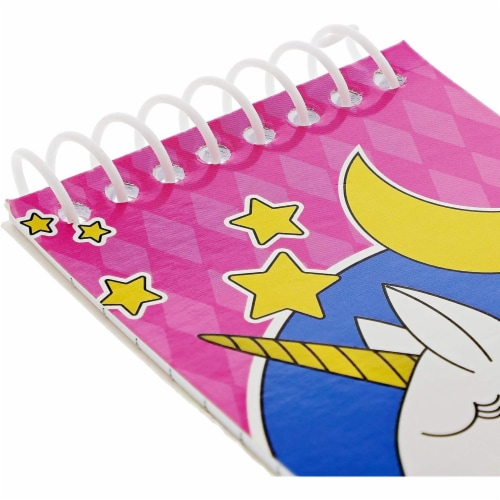 Mini Spiral Notepads, Unicorn Design (3 x 5 Inches, 24-Pack) Perspective: left
