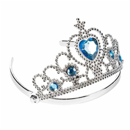 12 Pack Princess Crowns and Tiaras for Kids Costume Birthday Party, Set in 4 Colors Perspective: left