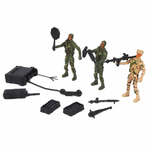 300 Pieces Military Army Men Toys Set For Boys - Including 8pc SWAT Team Action Figures Perspective: left