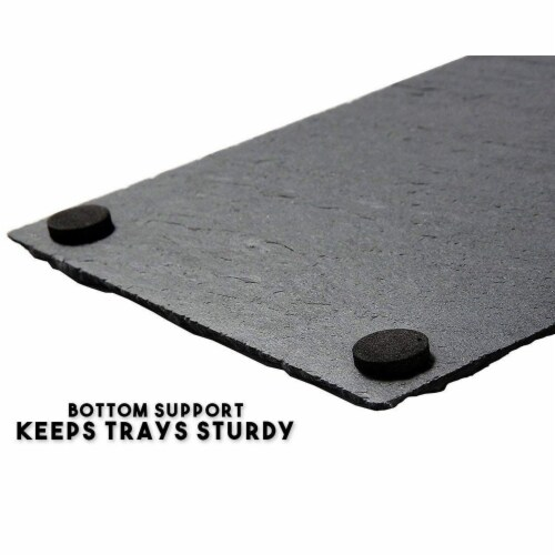 Slate Cheese Boards, Charcuterie Boards for Cheese and Meat (8 x 0.25 x 12 In, 6 Pc) Perspective: left