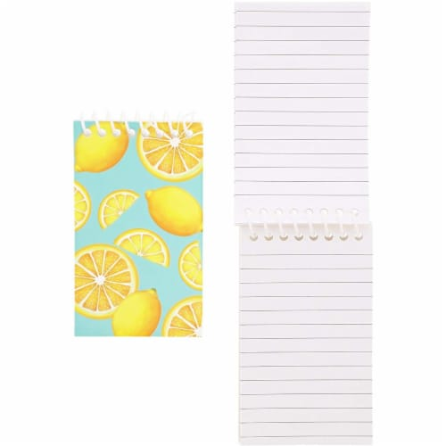 Juvale Mini Spiral Notebooks with 4 Fruit Designs (3 x 5 Inches, 24-Pack) Perspective: left