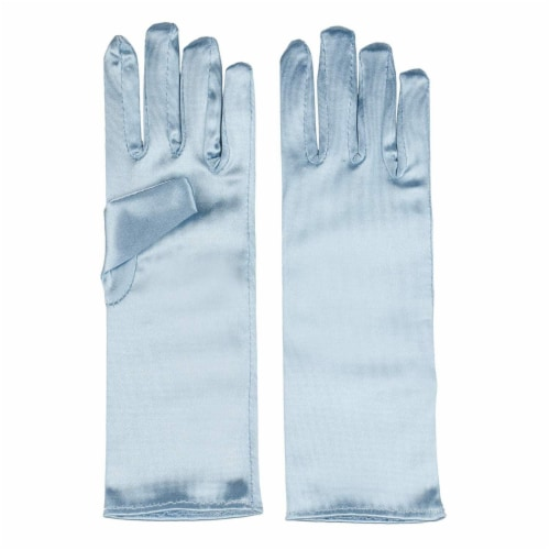 Juvale Princess Gloves for Little Girls Dress Up (4 Pairs) Perspective: left