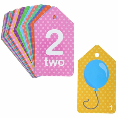 Colorful Educational Flash Cards (Words, Alphabet, Numbers, 78 Pieces, 3-Pk) Perspective: left