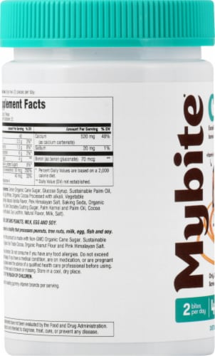 MyBite Vitamins Calcium Dietary Supplement Perspective: left
