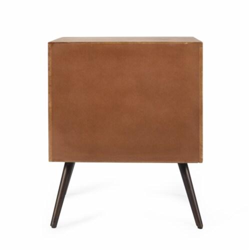 Xaviera Handcrafted Boho Mango Wood Cabinet Perspective: left