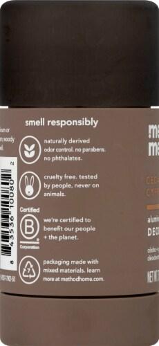 Method Men Cedar + Cypress Aluminum Free Deodorant Perspective: left