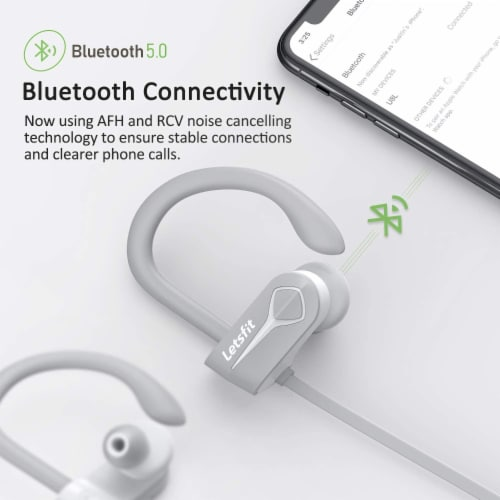 Letsfit U8L Bluetooth Headphones - Gray Perspective: left