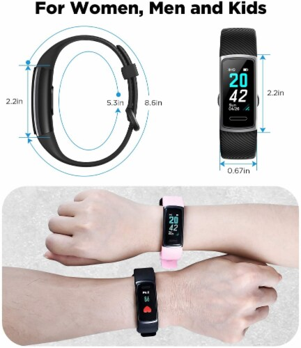 Letsfit ID152 Water Resistant Heart Rate & Activity Monitor - Pink Perspective: left