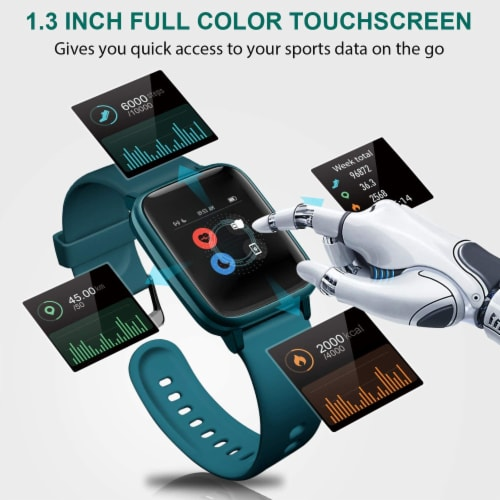 Letsfit ID205L Smartwatch Heart Rate & Activity Monitor - Green Perspective: left